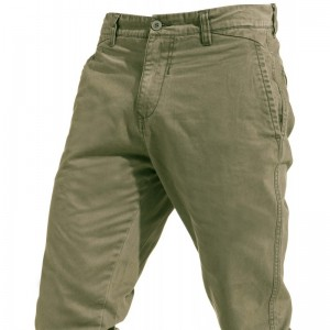 pantalon-aspect-chino-de-couleur-kaki-blend
