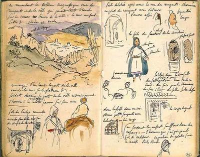carnet de croquis du maroc 1832