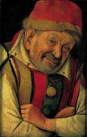 """""""Portrait du Bouffon"""", attribué à Jean Fouquet."""