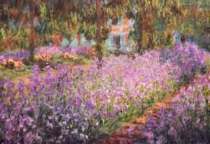 Le jardin de l'artiste à Giverny, vers 1900 Claude Monet