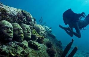 Jason-de-Caires-Taylor-Sculpture-Sous-marine-Visages-1