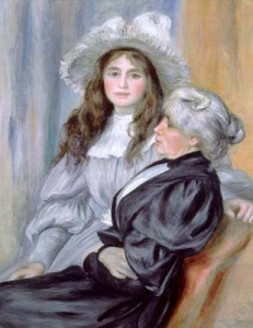 Julie Manet et sa mère, Berthe Morisod, peintes par Renoir