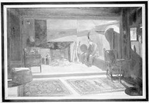 Barrie dans sa chambre, peint par Peter Scott
