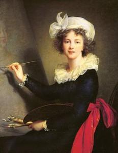 Autoportrait de Mme Vigée Le Brun exécutant un portrait de Marie-Antoinette.