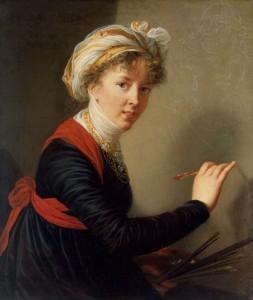 Autoportrait de Mme Vigée Le Brun exécutant un portrait de la reine Marie- Antoinette (1790)