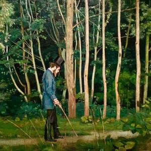 """Hodler: """"Le promeneur à l'orée du bois"""" 1885"""