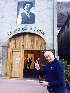 Pierre-Alain Corthay devant la Grande à Emile