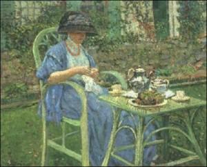 L'heure du thé à Giverny