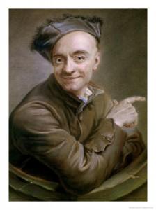"""Maurice Quentin de la Tour, autoportrait dit """"à l'oeil de boeuf"""""""